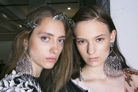 <p>If you don't want to go near a hot tool, but still want a standout 'do, simply opt for a gilded hair barrette like those seen at Rodarte. You can use it to sweep your hair out of your face with a side part or pin back a half-up, half-down look. </p>