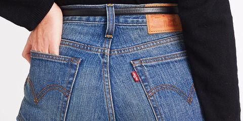 Clothing, Blue, Denim, Trousers, Jeans, Pocket, Textile, White, Line, Light,