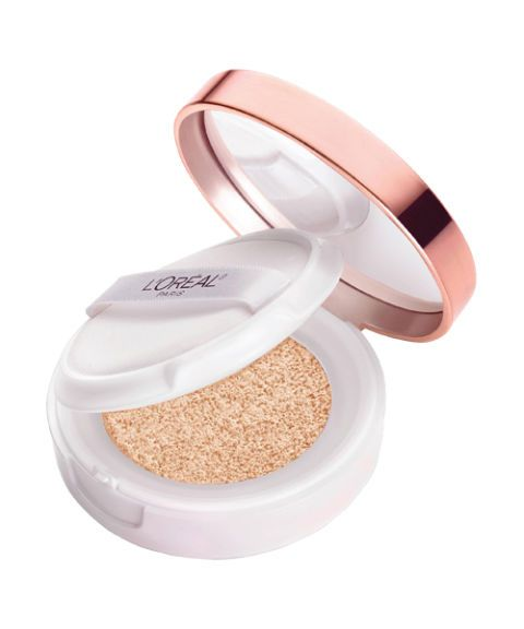 "<p>This sponge-y, miracle foundation matches to your shade and is totally buildable—so you're less likely to overdo it and look like you just straight up painted your face. That's not cute.</p><p>$17, <a href=""http://www.lorealparisusa.com/en/products/makeup/face/foundation-makeup/true-match-lumi-cushion-foundation.aspx"" target=""_blank"">lorealparisusa.com</a></p>"