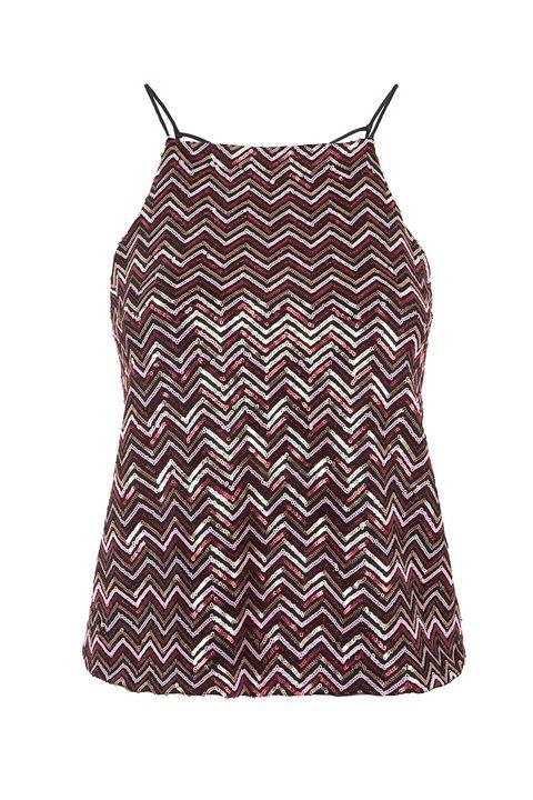 "<p>Even sparklier than RiRi's. 💎</p><p>Topshop sequin cami, $15, <a href=""http://bit.ly/1Qv1VnR"">topshop.com</a>.</p>"