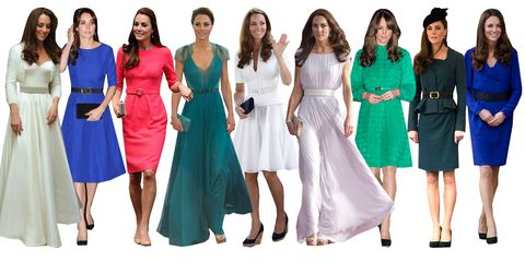 <p>On second thought, Kate Middleton's signature style isn't just a belted coat, it's the belt itself. What can we say? KMidd loves a nipped waist. She will cinch everything from skirt suits to formalwear. She even strapped one to her second wedding dress. </p>