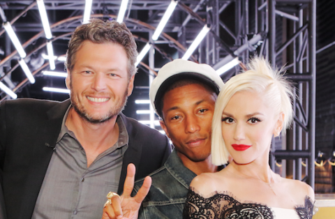 """Pharrell Is So Supportive of Gwen Stefani and Blake Shelton's Relationship He Calls It a """"Miracle"""""""