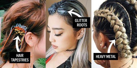 Hair, Ear, Hairstyle, Skin, Earrings, Chin, Forehead, Eyebrow, Eyelash, Hair accessory,