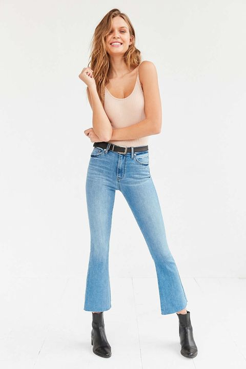 "<p>BDG high-rise kick flares, $64, <a href=""http://bit.ly/1UaWktF"">urbanoutfitters.com</a>.</p>"