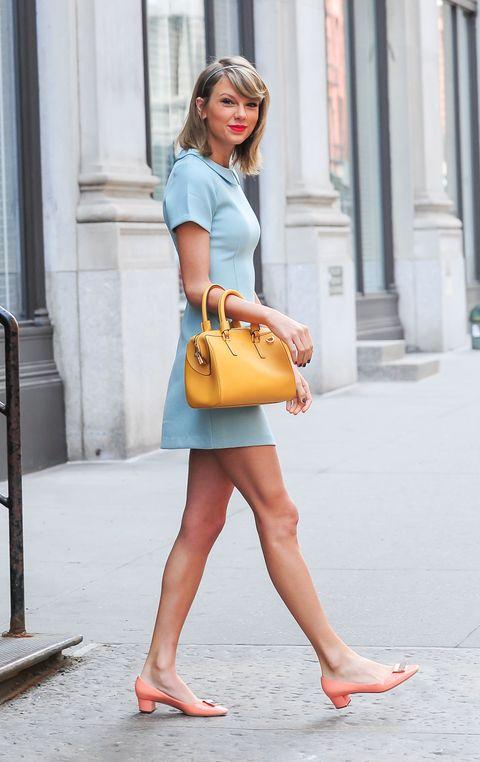 Clothing, Brown, Human leg, Shoulder, Joint, Bag, Style, Street fashion, Summer, Toe,