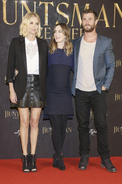 Chris Hemsworth, Emily Blunt, Charlize Theron