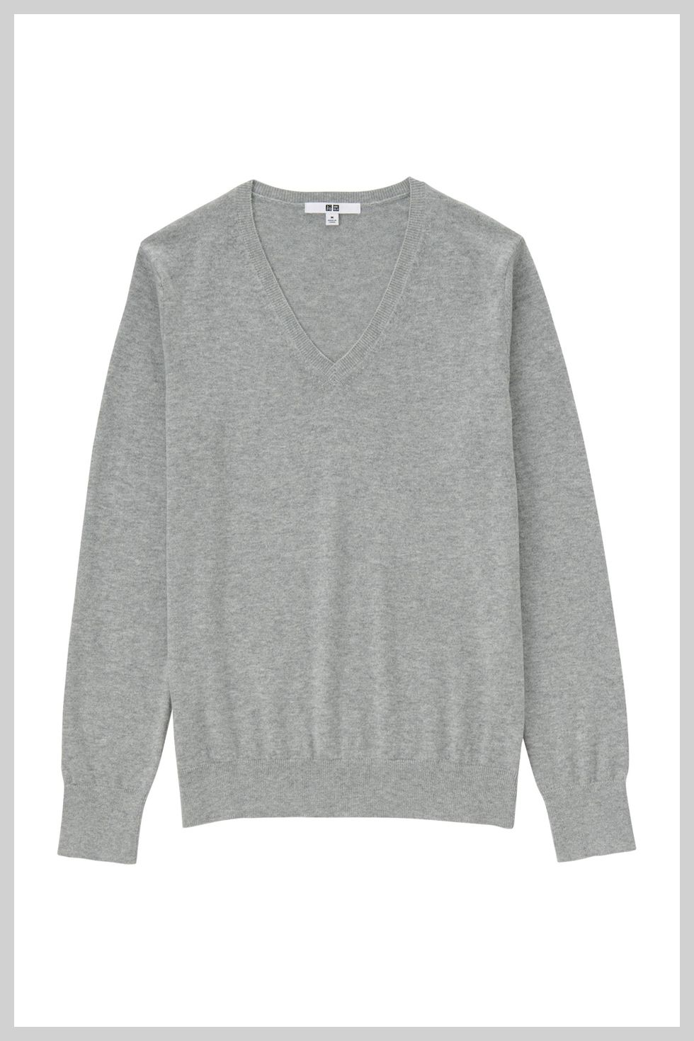 "<p>""You would be surprised by how many cashmere pieces can actually be washed at home,"" says Zoe. ""Always check the care label first to be sure, and as long the piece is washable, you can hand wash using a mild detergent, followed by a protector like <a href=""http://downy.com/en-us/fabric-softener/liquid-fabric-conditioner"" target=""_blank"">Downy Fabric Conditioner</a> to prevent stretching, fading, and pilling. Then, just reshape and lay flat to dry. Never hang delicate cashmere pieces up to dry since this can ruin the garment's shape.<span class=""redactor-invisible-space"">""</span></p><p><span class=""redactor-invisible-space""></span>Why fabric conditioner? ""I think the best analogy is when you condition your hair. I would never *not* condition because then my hair gets frizzy and dry, and the same goes for your clothing,"" explains Zoe. </p><p>Cashmere sweater, $20; <a href=""http://www.uniqlo.com/us/product/women-cotton-cashmere-v-neck-sweater-164401.html#16~/women/sweaters/cotton-cashmere/v-necks/~ "" target=""_blank"">uniqlo.com</a></p>"