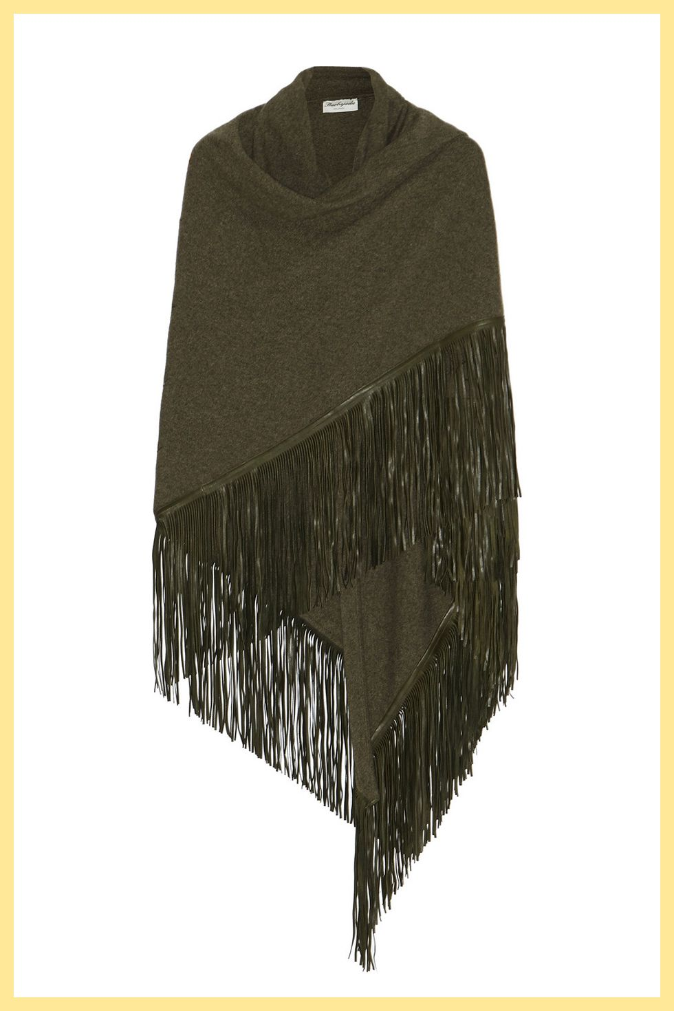 "<p>""Though fringe is very delicate, it can also be treated at home—just be sure to hand wash your favorite fringe pieces to prevent any tangling,"" says Zoe. ""I always say you can never have too much fringe in your closet.""</p><p>Barbajada wrap, $925; <a href=""https://www.net-a-porter.com/us/en/product/632742/Barbajada/fringed-leather-and-cashmere-wrap"" target=""_blank"">net-a-porter.com</a></p>"
