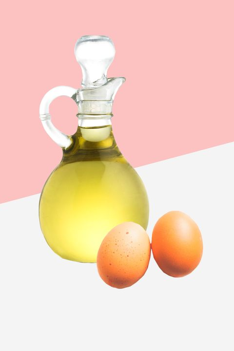 "<p>""Mix raw eggs, olive oil, and vinegar into a hair mask, and keep it on for 30 minutes to help color shine."" —Zoe Wiepert</p>"