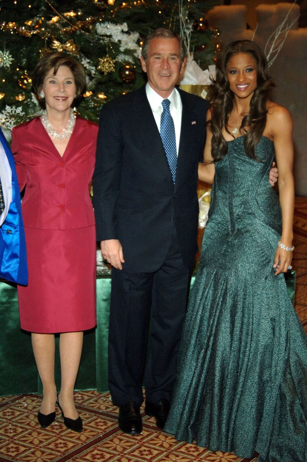 "Ciara With George W. Bush Ciara also scored an invite to the 2005 ""Christmas in Washington"" special, dressed in a festive emerald gown. The singer's debut album Goodies put her on the map , and Ciara spent much of that year touring the country with fellow R&B and hip hop up-and-comers Bow Wow and Omarion."