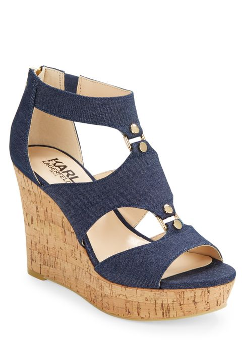 "<p>Neutral wedges make the whole denim shoe trend accessible for easy-breezy wear any day of the week (bonus if they're ultra-comfy). Reach for them with white pants, dresses, and even a pair of velvet shorts.</p><p><em>Karl Lagerfeld Savaoie Platform Wedge Sandals, $109; </em><a href=""http://www.lordandtaylor.com/webapp/wcs/stores/servlet/en/lord-and-taylor/savoie-platform-wedge-sandals"" target=""_blank""><em>lordandtaylor.com</em></a></p>"