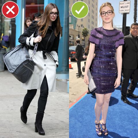 <p>Unless you wear them every day, people *will* assume that you are sick and/or hungover when you roll up in spectacles—UNLESS you treat them as a Gucci-esque accessory that actually adds something to the look. Better to be more dressed up if your Warby Parkers usually don't see the light of day. </p>