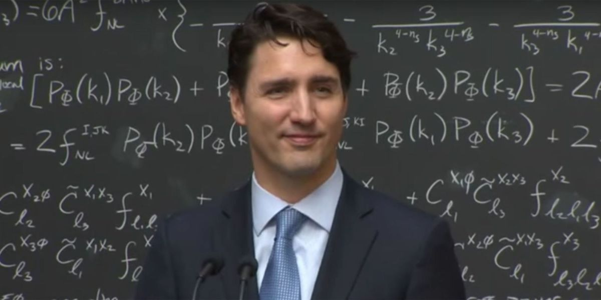 Watch Justin Trudeau Casually Explain Quantum Computing to a Room Full of Scientists