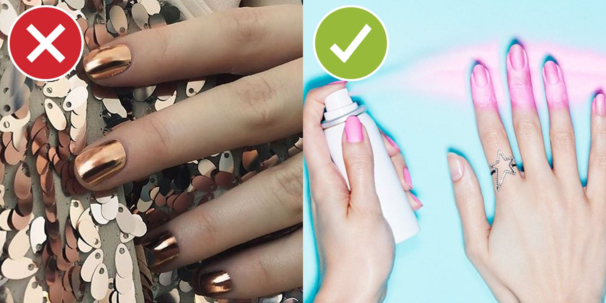 "<p>Decals yes, cutting and shaping and pressing out all the air bubbles no. When the alternative <a href=""http://www.marieclaire.com/beauty/news/a16851/spray-on-nails-trend/""> takes 20 seconds per hand</a>, why would you go through all the trouble?</p>"