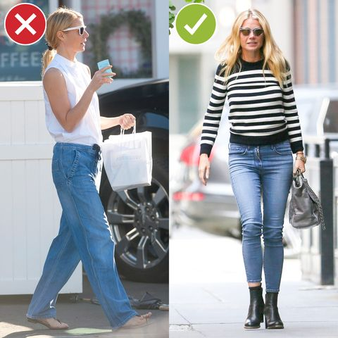 <p>Like, wear whatever you want, but just know that ill-fitting trousers signal to the world that you've given up. (We're pretty sure Gwyneth's were an honest mistake, though.) Loose doesn't have to equal shapeless, and a sliver of ankle is always a good idea. </p>