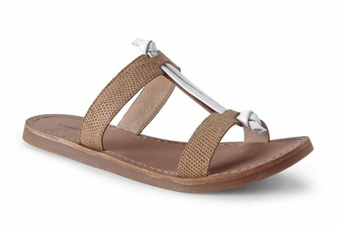 "<p><strong></strong><strong>Editor's Tip: </strong>Tan (aka dirt-colored) sandals and a cross-body cary-all are day-drinking essentials. Duh.</p><p><em>Knotted Sandal, $49, <a href=""http://www.landsend.com/products/womens-knotted-sandals/id_298273?sku_0=::HJN"" target=""_blank"">landsend.com</a>.</em></p>"