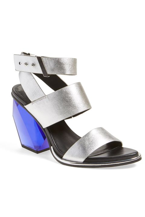 "<p>There's something objectively cool about these futuristic sandals–the bright blue gem-like heel with the silver straps and stark black sole makes for an eye-catching contrast. Reach for these with black skinny pants and a fun blouse! <em></em></p><p><em>United Nude Leona Sandals, $319; <a href=""https://www.shopbop.com/leona-sandal-united-nude/vp/v=1/1591499224.htm?folderID=2534374302112442&fm=other-shopbysize-viewall&os=false&colorId=11749"" target=""_blank"">shopbop.com</a></em></p>"