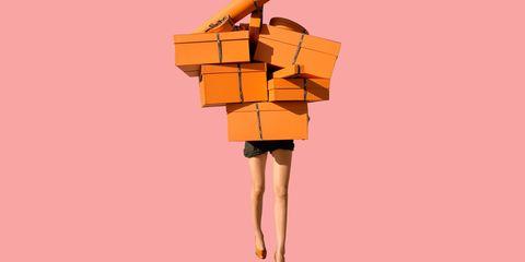 Orange, Tan, Paper, Paper product, Animation, Cardboard, Peach, Illustration, Box,