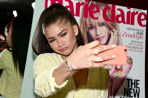 <p>We put our VIPs on the cover of <em>Marie Claire's</em> May issue, but you can do us one better by grabbing a flattering photo of your guest of honor, blowing it up, and framing it for picture-taking purposes. In other words, pull a Zendaya. </p>