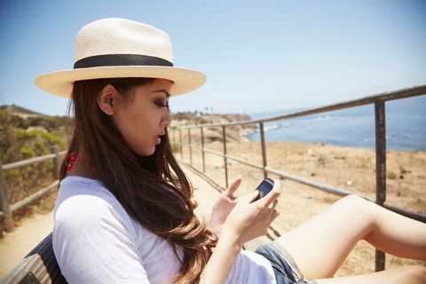Hat, Human leg, Leisure, Summer, People in nature, Wrist, T-shirt, Sitting, Headgear, Sun hat,