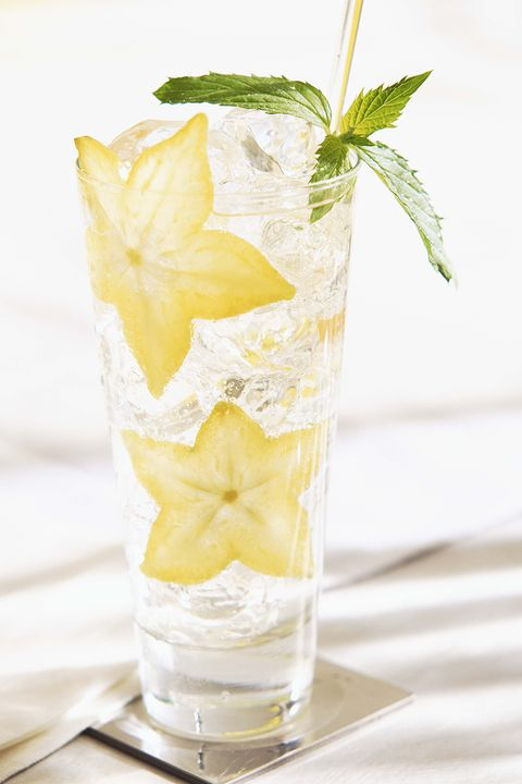 Star fruit in cocktail