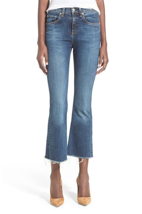 "<p>The more cropped, the better if you're opting for denim on a sweltering day. We love the frayed hem, especially.</p><p><strong>High Rise Raw Edge Jean, $195; <a href=""http://shop.nordstrom.com/s/rag-bone-jean-high-rise-raw-edge-crop-flare-jeans-paz/4244255?cm_mmc=Google_Product_Ads_pla_online-_-datafeed-_-women%3Abottoms%3Apant-_-5089210&%3Bcountry=US&%3Bcurrency=USD&mr%3AreferralID=aa5013e3-0805-11e6-8195-005056947d48&gclid=CjwKEAjw9OG4BRDJzY3jrMng4iQSJABddor11WNBEAsV7EEic3IHDy3WURRSNHZHkVgjccM0RojbwhoCkhTw_wcB"" target=""_blank"">shop.nordstrom.com</a>. </strong></p>"