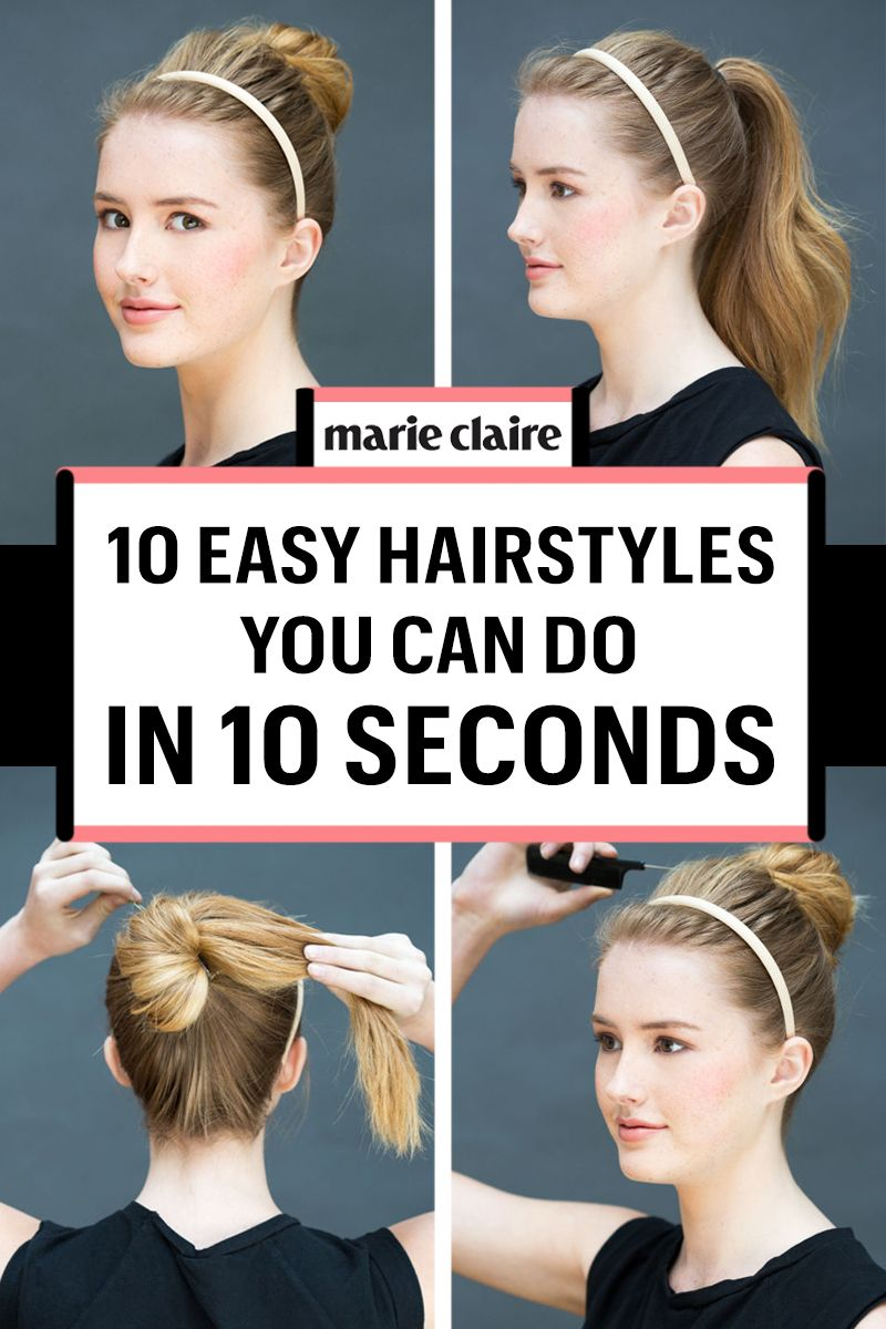 10 easy hairstyles you can do in 10 seconds diy hairstyles solutioingenieria Image collections