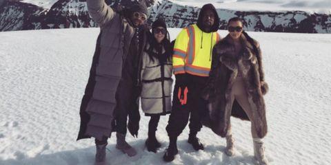 Winter, Snow, Freezing, Geological phenomenon, Sunglasses, Boot, Adventure, Costume design, Precipitation,