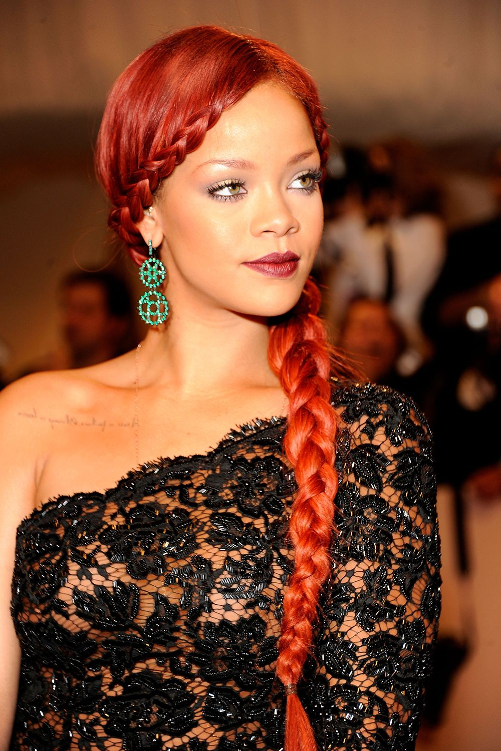 "Rihanna attends the ""Alexander McQueen: Savage Beauty"" Costume Institute Gala at The Metropolitan Museum of Art on May 2, 2011 in New York City."
