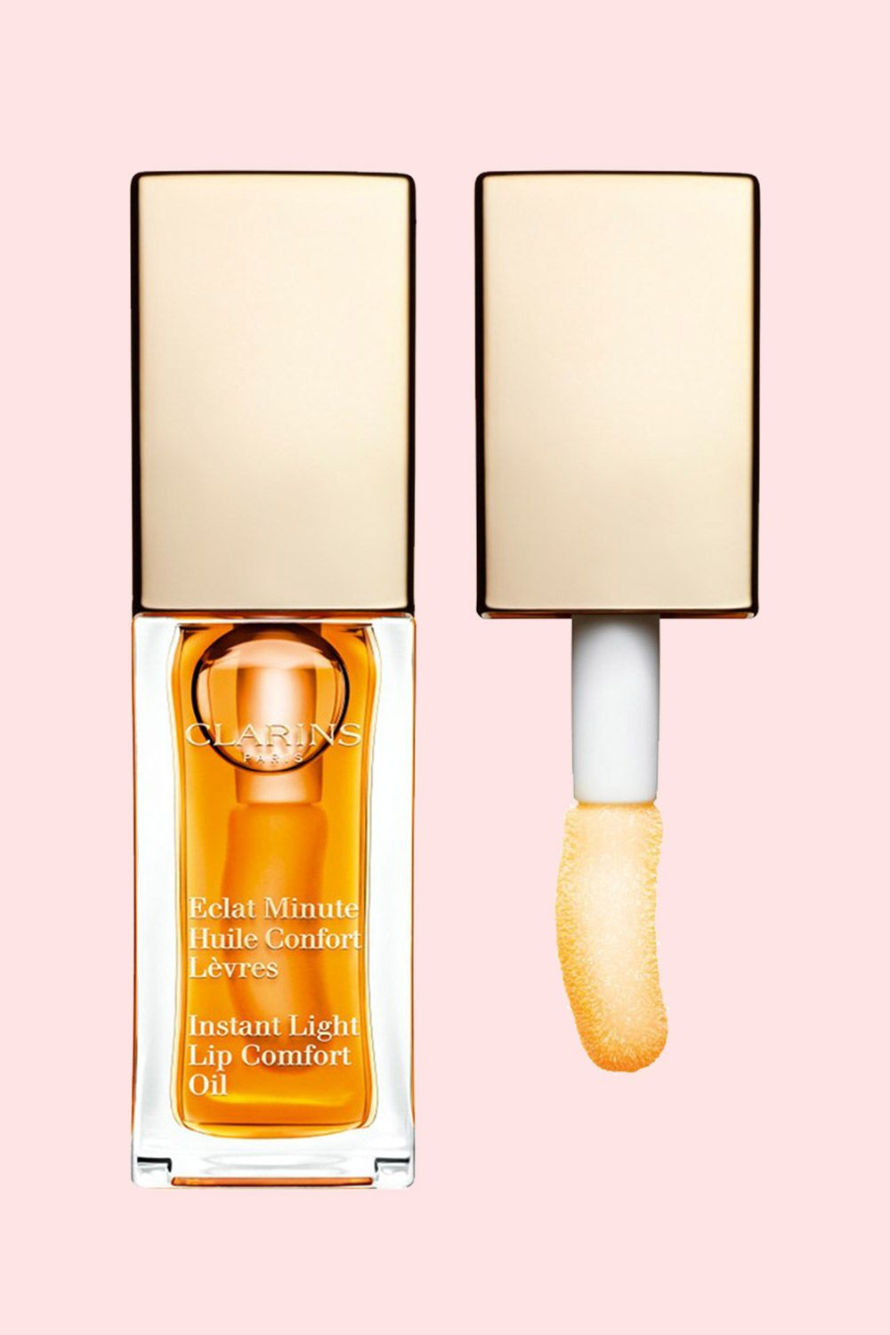 "<p>This gel-like, hint-of-color oil is packed with nourishment by way of mirabelle plum, jojoba, and hazelnut. Oh, and it will make your lips look fuller sans liner!</p><p><strong>Clarins 'Instant Light' Lip Comfort Oil, $25; <a href=""http://www.clarinsusa.com/en/instant-light-lip-comfort-oil/C050303007.html"">clarins.com</a>.</strong></p>"