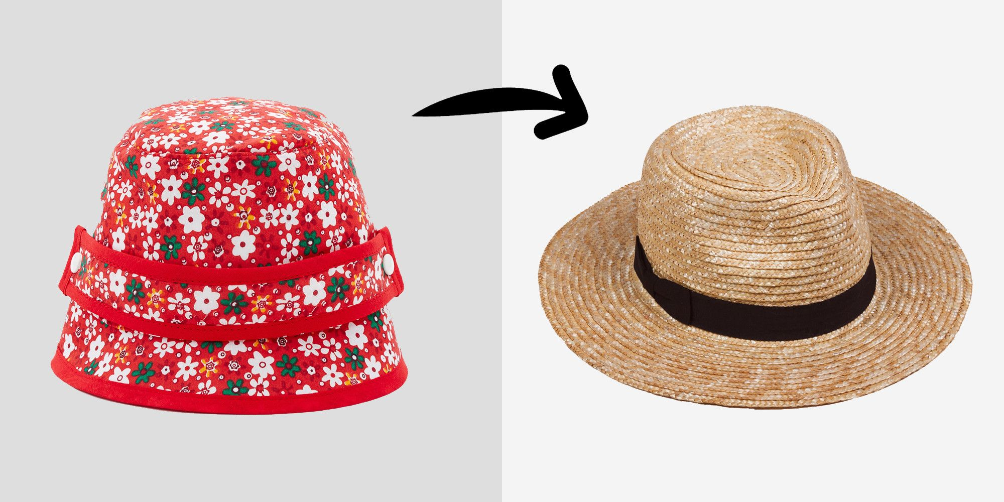 "<p>Why not switch out one cliché for another? (Pretty much no one except Rihanna could do the bucket anyway, if we're being honest with ourselves.) This time, though, the fedora is straying far from its sad Rat Pack wannabe rep and straight into weirdly, actually cool territory, thanks to Karl Lagerfeld and <a href=""http://www.marieclaire.com/fashion/news/a20326/chanel-cruise-cuba/"">one momentous night in Cuba</a>. </p><p><br> </p><p><em>Bernstock Spiers bucket hat, $160, <a href=""https://www.openingceremony.com/products.asp?menuid=2&catid=14&subcatid=53&designerid=558&productid=164298"">openingceremony.com</a>; Lack of Color straw fedora, $59, <a href=""https://www.lackofcolor.com.au/product/the-spencer-fedora/"">lackofcolor.com.au</a>.</em></p>"