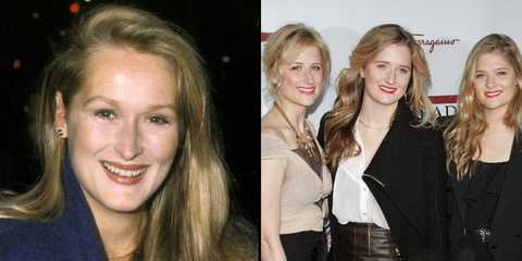 <p>Streep at about 30 years old and daughters Mamie at 32, Grace at 29, and Louisa at 24.</p>