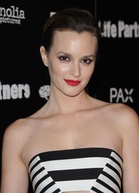 "<p>The <em>Gossip Girl </em>star opened up to us about her tough upbringing in her <a href=""http://www.marieclaire.com/celebrity/a6980/leighton-meester-interview/?click=pp"">April 2012 cover interview</a>, in the midst of her <a href=""http://www.dailymail.co.uk/tvshowbiz/article-2155559/Leighton-Meester-wins-legal-battle-mother-spent-money-sent-stars-brother-plastic-surgery.html"">legal battle</a> with her mother. Meester spent the first few months of her life in a halfway house, after her mother Constance gave birth to her while serving her prison sentence for drug-smuggling. ""You can take what is handed to you and use it as an excuse to mess up,"" Meester told us. ""But I've always handled what was given to me by life. I consider myself lucky. I was never lied to. And I was loved.""</p>"