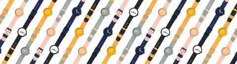 Amber, Orange, Circle, Peach, Stationery, Watch accessory, Watch, Analog watch,