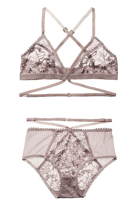 "<p>The New Zealand couple behind <a href=""https://lonelylabel.com/about"" target=""_blank"">The Lonely Label</a> created their intimates as a love letter for women to themselves: no peacocking for men required. We love that they size up for bustier gals plus all the little details—see the velvet straps that double cross around the waist.  </p><p><strong>Winona Softcup Bra, $62; <a href=""https://lonelylabel.com/products/winona-sc-bra?taxon_id=11"" target=""_blank"">lonelylabel.com</a>. Winona Brief, $45 ; <a href=""https://lonelylabel.com/products/winona-brief?taxon_id=11"" target=""_blank"">lonelylabel.com</a>. </strong></p>"