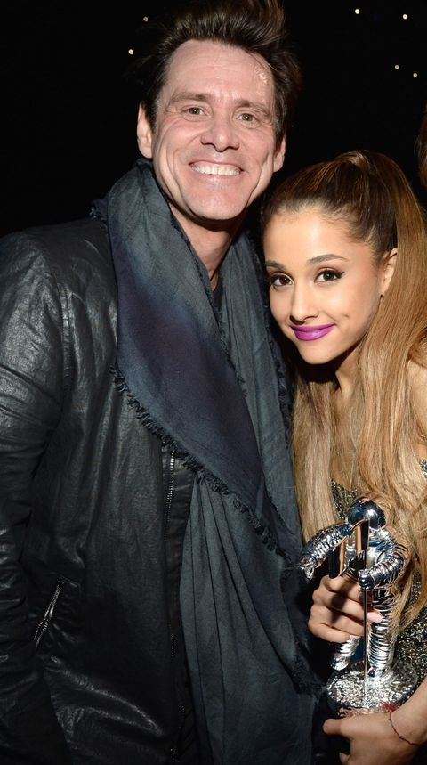 "<p>It's hard to believe that Ariana Grande is the one fangirling over someone else, but it's 100% real. ""My childhood crush, like, my lifelong crush, it kind of all goes together—it's Jim Carrey,"" Grande said on <em>Live with Kelly and Michael</em> <a href=""http://www.etonline.com/news/173103_ariana_grande_reinforces_her_lifelong_crush_on_jim_carrey/"">in 2015</a>. ""I love him <i>so </i>much.""</p><p>When Ariana finally got the chance to meet Carrey, he was everything she imagined he'd be—and more. ""He was so over-the-top nice, and perfect, and just as I hoped he'd be. [He said to me in] his classic Jim Carrey, 'Nice to meet ya. Thank you. Remember, be nice.' I was like, 'Oh my God, you're so cute. I love you.' I was like, 'Wow, help me God, thank you,'"" she gushed. </p>"