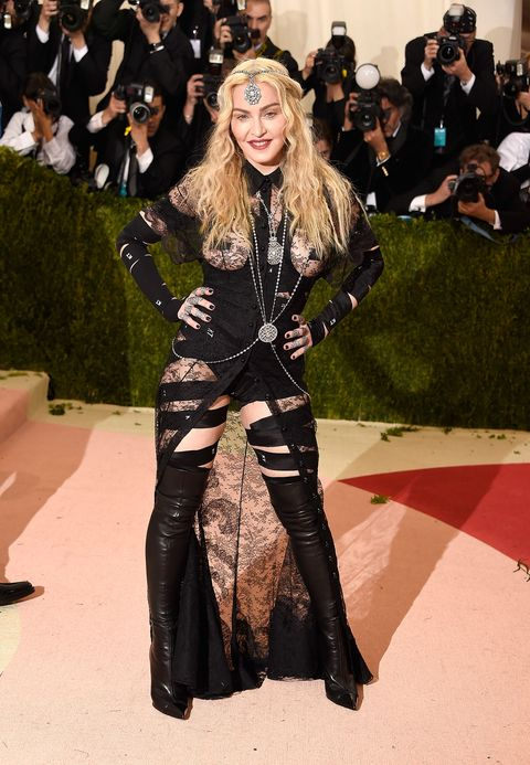 "<p>If the Met Gala isn't the place for Givenchy ass-less chaps, then where? (You know what I mean.) When Madge wore this avant-garde ensemble to this year's Fashion People Oscars, the popular response was...not welcoming. No matter—Madonna shut it all down with an Instagram statement, in which <a href=""http://www.marieclaire.com/celebrity/a20348/madonna-defends-met-gala-outfit/"">she called the outfit a political statement on ageism and sexism</a>. </p>"