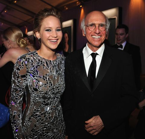 "<p>JLaw also has the hots for an older guy, and isn't the least bit shy about it.  ""Do you like Larry David? I'm in love with him, and I have been for a really long time,"" she told <em>Vanity Fair</em> <a href=""http://www.vanityfair.com/hollywood/2014/10/jennifer-lawrence-photo-hacking-privacy"">in 2014</a>. </p><p>She also <a href=""http://www.glamour.com/story/jennifer-lawrence-cover"">admitted</a> to <em>Glamour</em> earlier this year that she gave Larry David her number, but never got a call from the 68-year-old actor. ""I love that he didn't call me. It makes him so much hotter,"" she said. </p>"