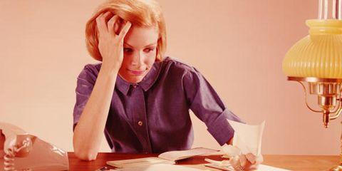 Table, Sitting, Lampshade, Desk, Employment, Lamp, Blond, Job, Light fixture, Office supplies,