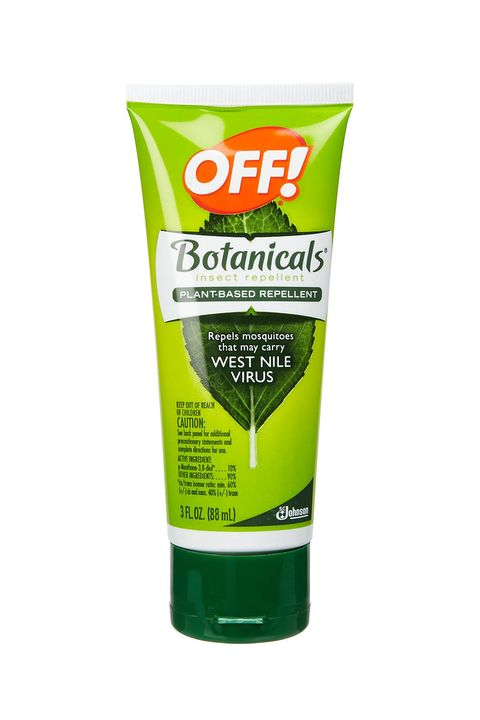 "<p>DEET products get a bad rap for claims that they harm the nervous system, though the evidence has never been <a href=""http://www.popsci.com/article/science/deet-safe-use"" target=""_blank"">conclusive</a> that they're unsafe for normal use. The CDC <a href=""http://www.cdc.gov/zika/prevention/"" target=""_blank"">still recommends</a> that if you're in a region with a significant threat of Zika or mosquito-borne illness like malaria, to use  a DEET product or a repellant that contains any of the following: picaridin, IR3535, oil of lemon eucalyptus, or para-menthane-diol (you can check for EPA-approved repellants <a href=""https://www.epa.gov/insect-repellents/find-insect-repellent-right-you"" target=""_blank"">here</a>). </p><p><strong>OFF! Botanicals Plant-Based Repellant (contains picaridin), $25 for Pack of 2; <a href=""http://www.amazon.com/Botanical-Lotion-Insect-Repelent-3-Ounces/dp/B004GCXNDY/ref=pd_sim_86_1?ie=UTF8&dpID=41CkU0zAeJL&dpSrc=sims&preST=_AC_UL160_SR160%2C160_&refRID=153G2TST99V0J1ZTNQZQ"" target=""_blank"">amazon.com</a>. </strong></p>"