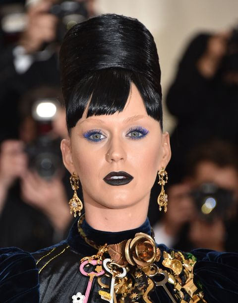 "<p>For the 2016 Met Gala, Perry bleached her dark brows and the internet was mystified. There were Katy's-brows-were-no-shows jokes aplenty. What many had yet to realize is that the <a href=""http://www.marieclaire.com/beauty/news/a19457/how-to-fake-bleached-eyebrows/"" target=""_blank"">canceling out your arches</a> = next-level makeup. For further proof, click <a href=""https://www.instagram.com/p/BCqu-U_nUEN/?taken-by=georgiamayjagger&hl=en"" target=""_blank"">here</a>.<span></span></p>"