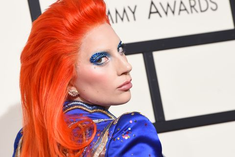 "<p>As part of her tribute to late legend David Bowie at the Grammys, Gaga sported bright orange hair and a royal blue suit. Instead of focusing on her commitment to the look, Twitter couldn't help but liken her to <a href=""https://twitter.com/Jayxguzman8/status/699416786333073408"" target=""_blank"">Ms. Frizzle</a> and <a href=""http://www.mirror.co.uk/3am/celebrity-news/lady-gaga-compared-toilet-bleach-7378197"" target=""_blank"">Harpic Toilet bleach</a>. Smdh. Can't a girl channel her inner Ziggy Stardust in peace?</p>"