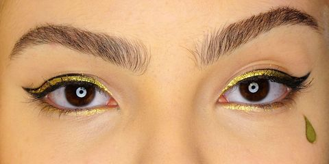 Brown, Yellow, Green, Skin, Eyelash, Eyebrow, Colorfulness, Iris, Amber, Beauty,