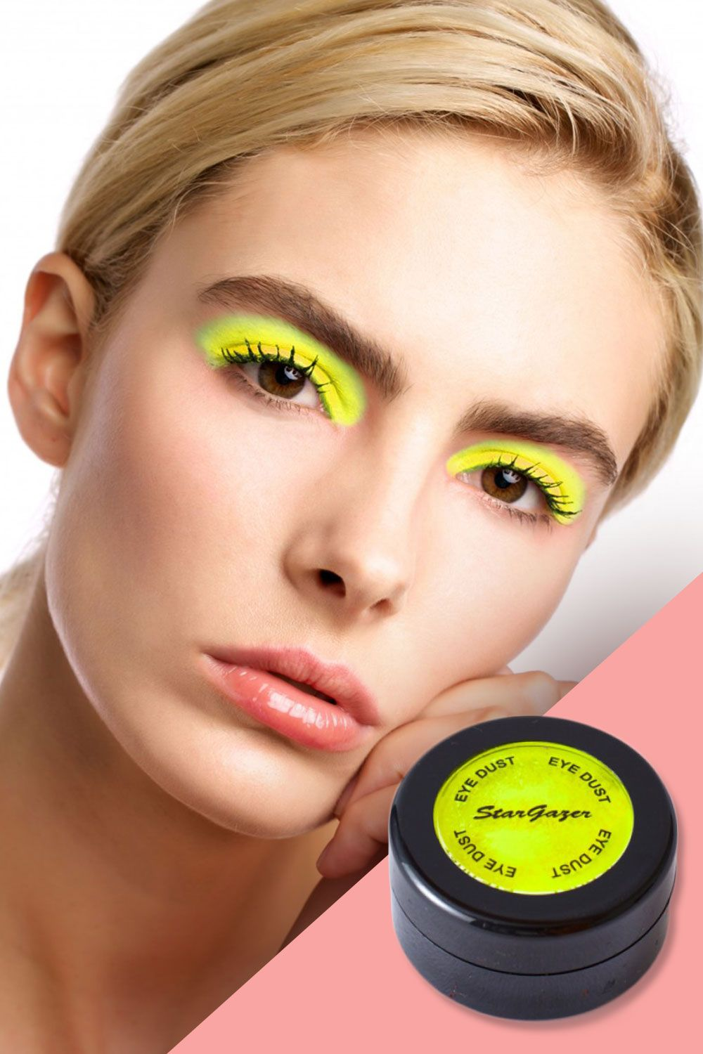 """<p>Enough with the damn glowsticks. Make a neon statement with your lids by smudging on this UV neon shadow (if you're color-shy, make it a light dusting). In the daylight it'll be a bright pop of color—and should you find yourself under a blacknight by night, the florescent pigments will keep the dance floor lit. It comes in every color of the rainbow, to boot.</p><p><br></p><p>Stargazer Radiate UV Neon Loose Shadow, $10; <a href=""""http://www.dollskill.com/stargazer-radiate-uv-neon-loose-eyeshadow.html"""" target=""""_blank"""">dollskill.com</a>.</p>"""