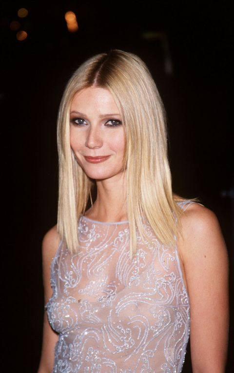 <p>First takeaway: It seems improbable, but a lot of celebs *start out* with a signature look, or at least find one very early on in their careers. This is classic, peak Gwyneth in 1998: lined eyes and nude lips. </p>