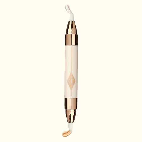 "<p>So it's not exactly <em>one</em> formula, but on either side of this wonder pen you'll find 1) A super-hydrating cream that firms and increases tautness of the under-eye area and 2) A light-reflecting, medium coverage concealer with a shimmery pearlescent finish. Together they work in harmony to make your eyes, for lack of a better word, lit.</p><p><br></p><p>Charlotte Tilbury Mini Miracle Eye Wand, $45; <a href=""http://bit.ly/1WCg0Yd"" target=""_blank"">nordstrom.com</a>.</p>"