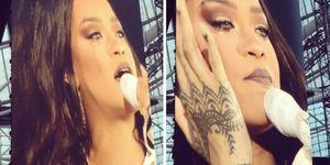 Rihanna crying onstage