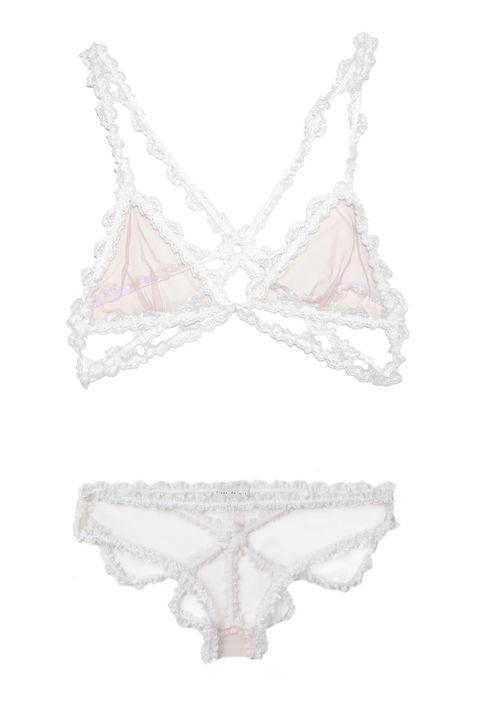 White, Pattern, Undergarment, Brassiere, Design, Body jewelry, Lingerie, Silver, Chain, Lace,