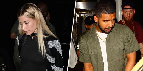 "<p>On that fateful night at The Nice Guy (it's an L.A. lounge, people), the <a href=""http://www.etonline.com/news/190258_drake_wears_hailey_baldwin_h_necklace_after_date_night/"" target=""_blank"">rumored couple</a> appeared to have traded accessories, with Drake leaving conspicuously alone but with the addition of her initial pendant. More kindling on the bonfire. </p>"