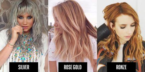 Heavy Metal Hair Trend 2016 Metallic Hair Colors To Try